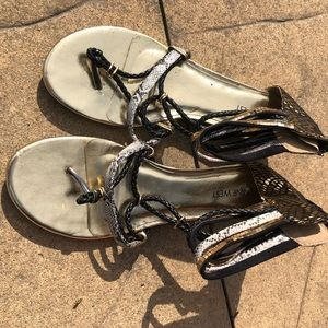 Sandals Gladiator style size 9 funky